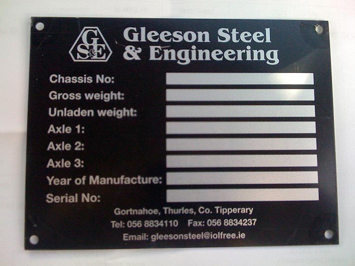Ce Data Plates And Serial Plates Co Tyrone True Colours